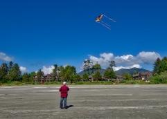 Flying high on MacKenzie Beach