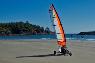 Catching air on MacDonald Beach