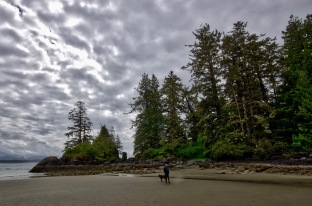Brenda and Rylee beach-combing on the West Coast of Vancouver Island