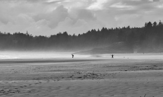 Walking the beach on the West Coast of Vancouver Island