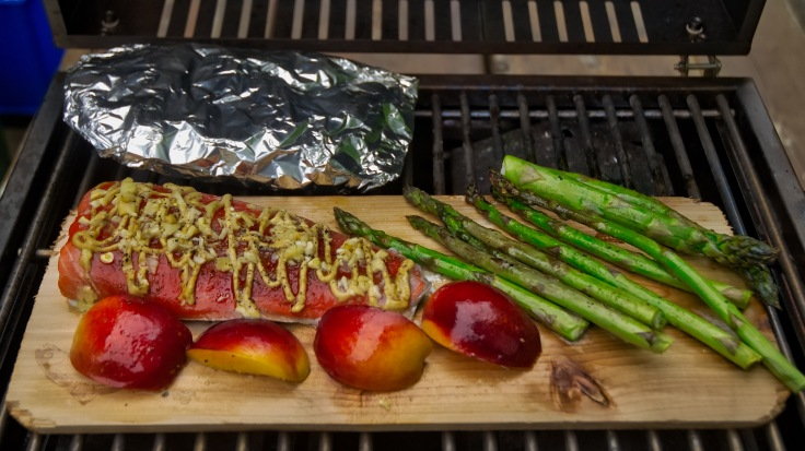 BBQ Salmon on cedar plank