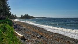 Beach at Cluxewe RV Park